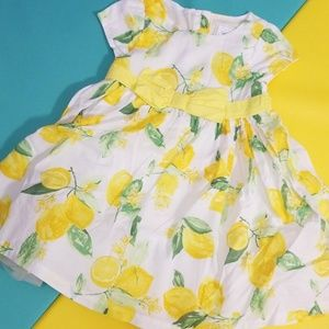 Gymboree Lemon Print Party Dress
